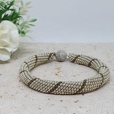 Bracelet spirale Argenté et Bronze